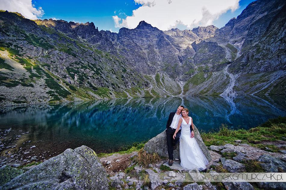 Sesja ślubna nad Czarnym Stawem
