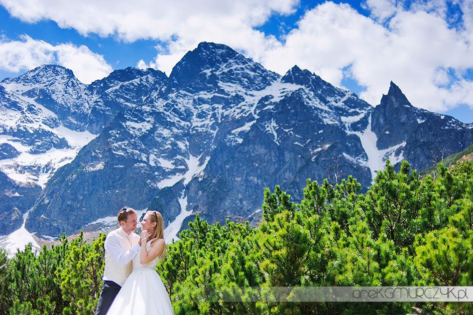 fotografie ślubne góry zakopane