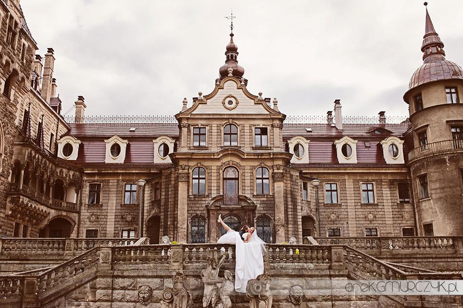 ślubny fotograf zdjęcia zamek pałac