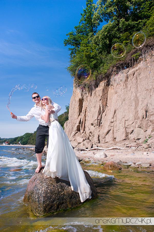 fotograf gdańsk ślub plener nad morzem