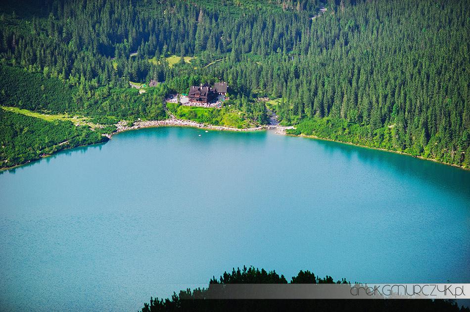 Tatry Morskie Oko widok ze szlaku na Szpiglasową Przełęcz. Fotograf Zakopane