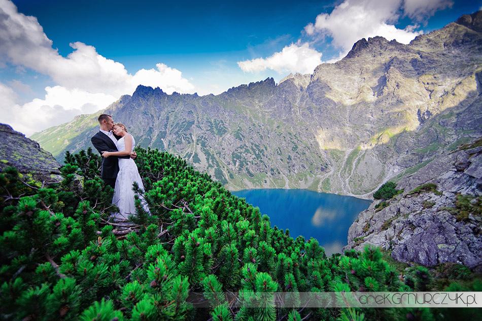 fotograf ślubny sesja w Tatrach nad Czarnym Stawem