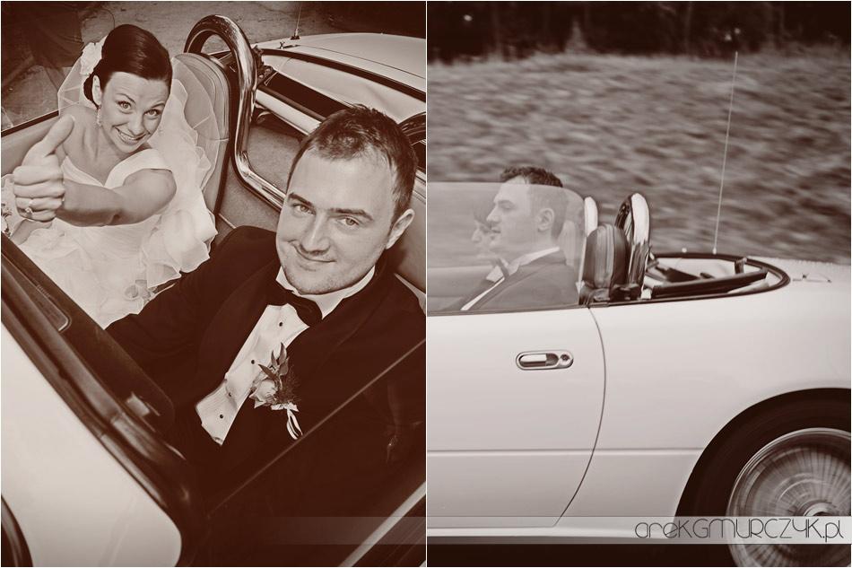 samochód do ślubu fotografie