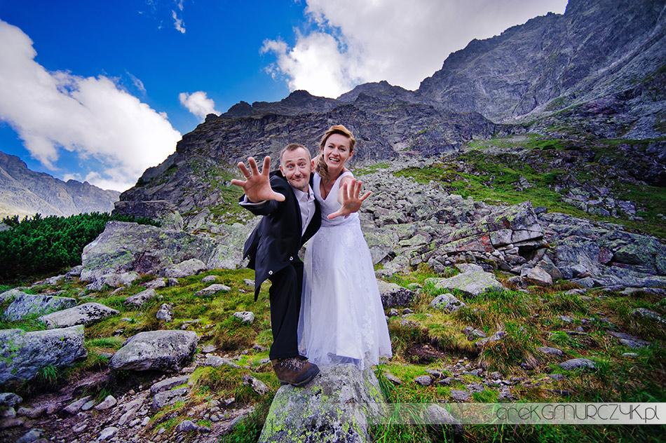 zdjęcia ślubne Płock. Arek Gmurczyk sesja w Tatrach. Morskie Oko, Czarny Staw, szlak na Szpiglasową Przełęcz
