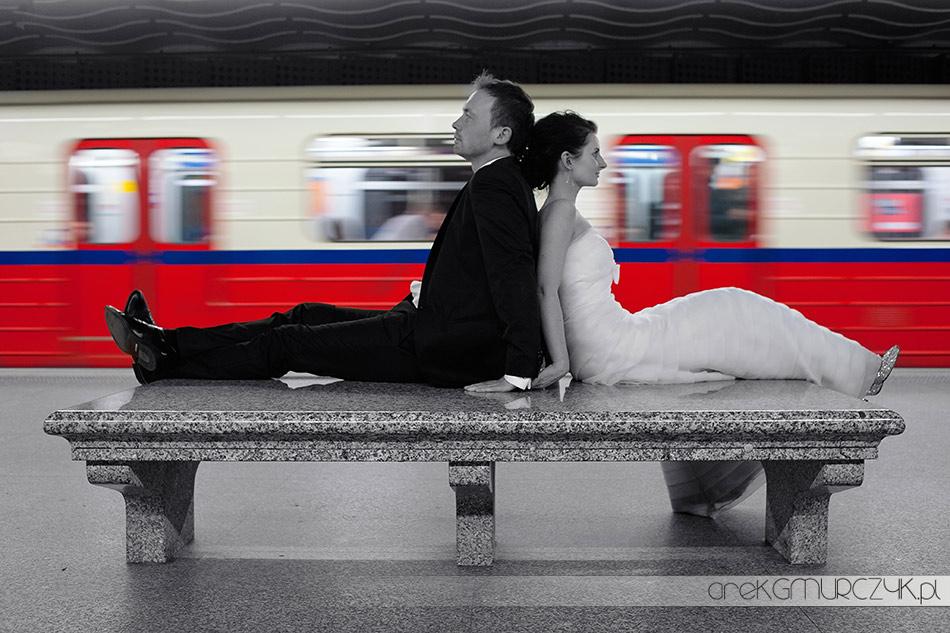 plener slubny metro