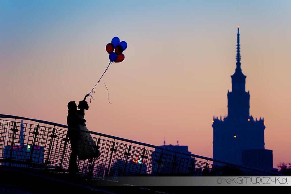 zdjęcia ślubne warszawa Pałac Kultury