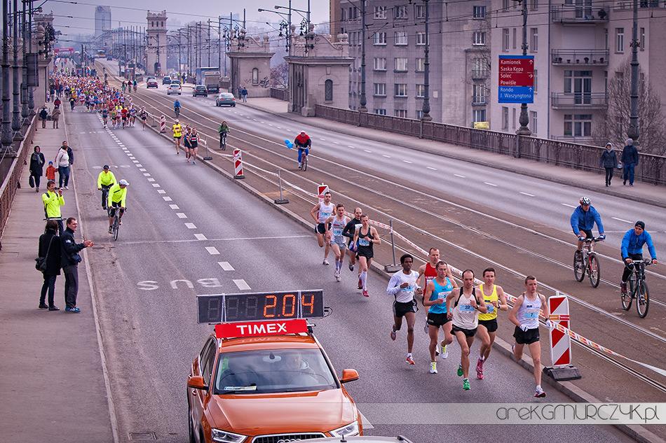Mariusz Giżyński na 7 Półmaratonie Warszawskim