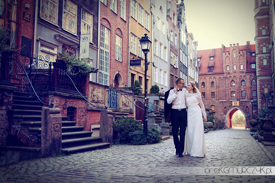 plener slubny ulica mariacka gdańsk