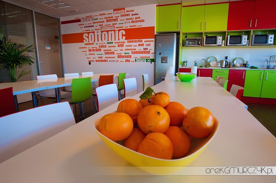"""Barcelońska siedziba SOFTONIC- firma, która 3 lata z rzędu zdobyła tytuł """"Najlepszego miejsca do pracy w Hiszpanii"""""""