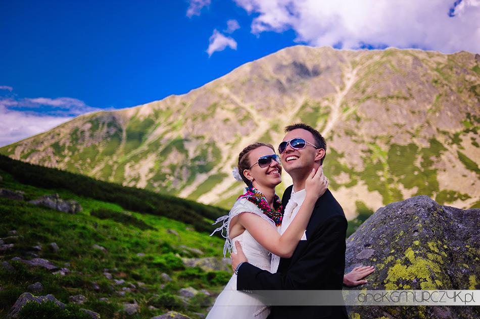 niepowtarzalne zdjęcia ślubne w górach