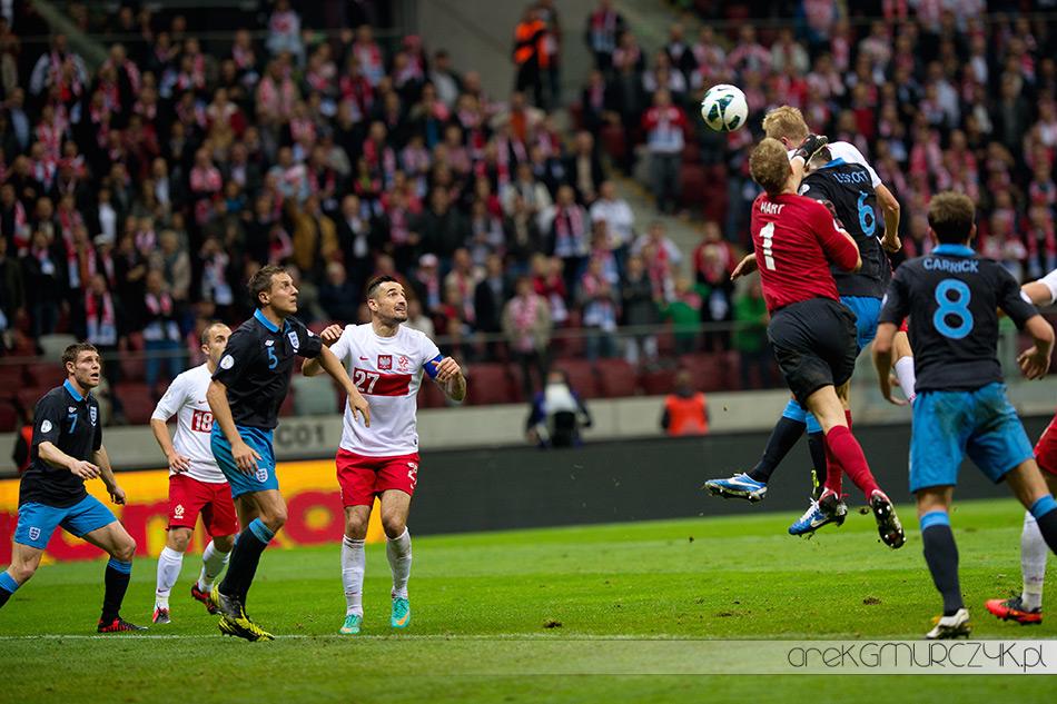 Kamil Glik strzela wyrównująca bramkę w meczu z Anglią!   Zdjęcia z meczu Polska-Anglia