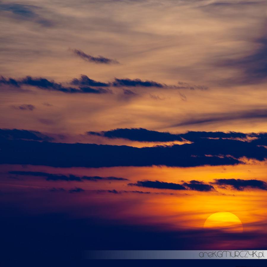 zachód słońca płock