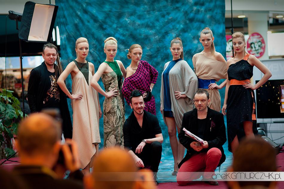 Modelki Shine Models, projektant Grzegorz Szczuka