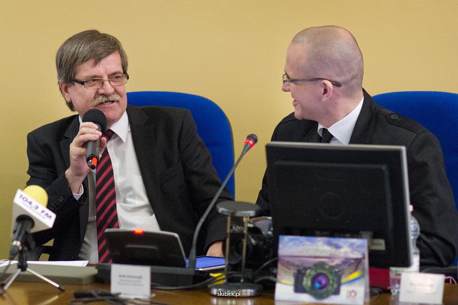 Wiceprezydent Roman Siemiątkowski i Arek Gmurczyk Płocka Fotograficzna