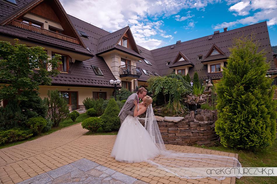 sesja ślubna w hotelu belvedere