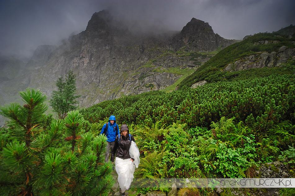 deszczowy plener w tatrach