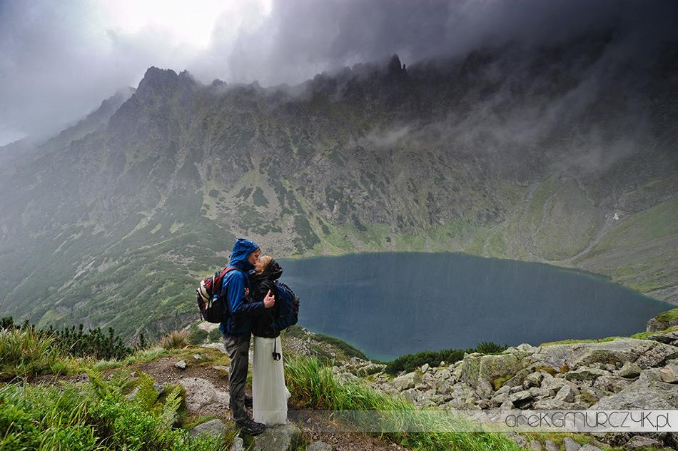 plener wysoko w górach