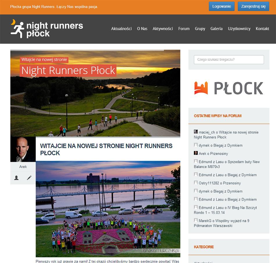 Portal oraz forum biegowe Night Runners Płock