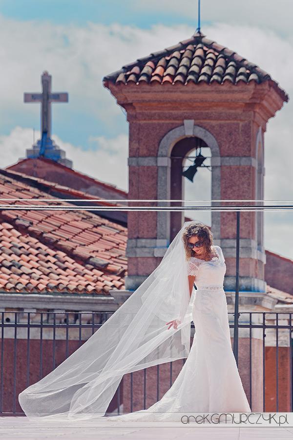 zdjęcia ślubne panny młodej