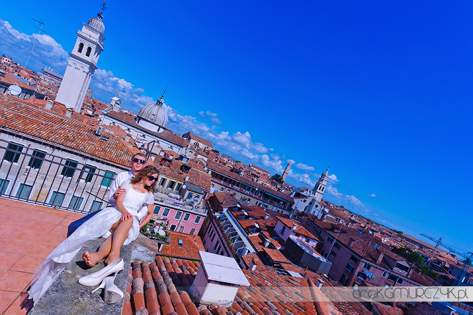 sesja na dachu w Wenecji