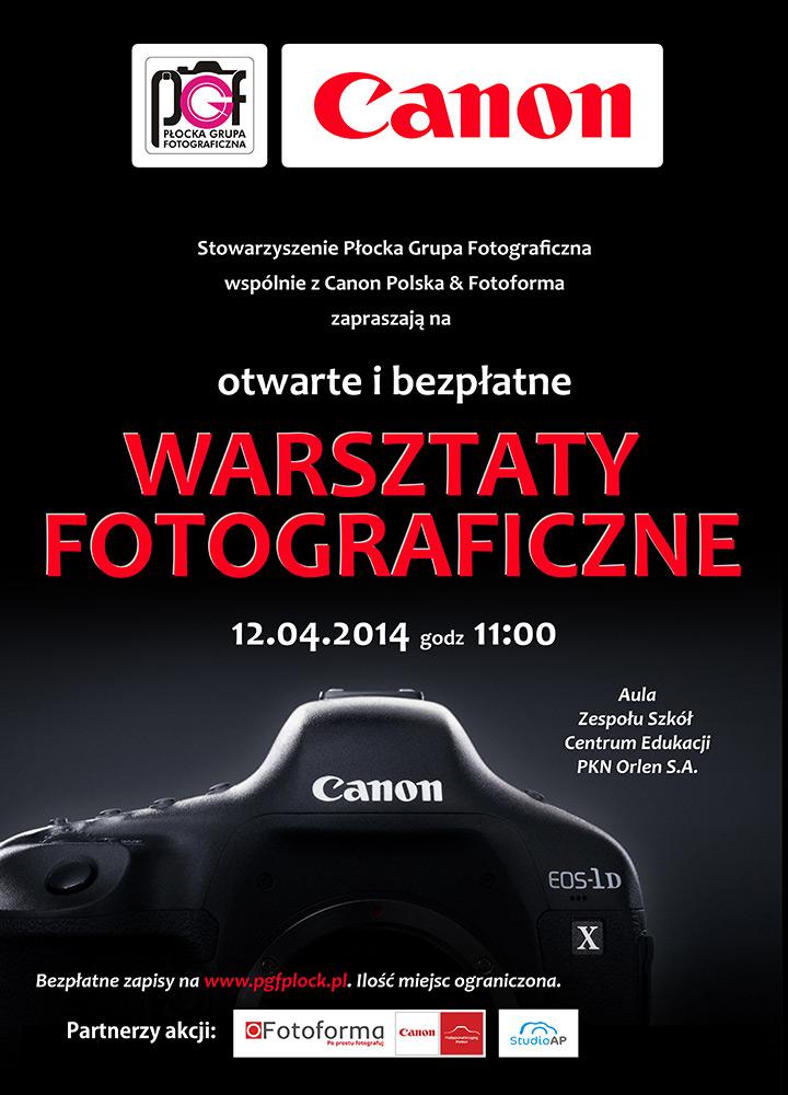Pierwsze w Płocku otwarte i bezpłatne warsztaty fotograficzne Canon Polska