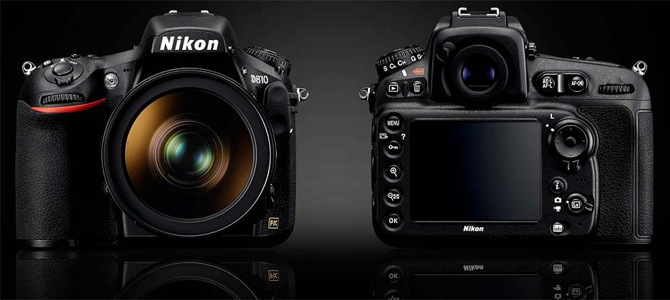 Nikon D810 z przodu i tyłu