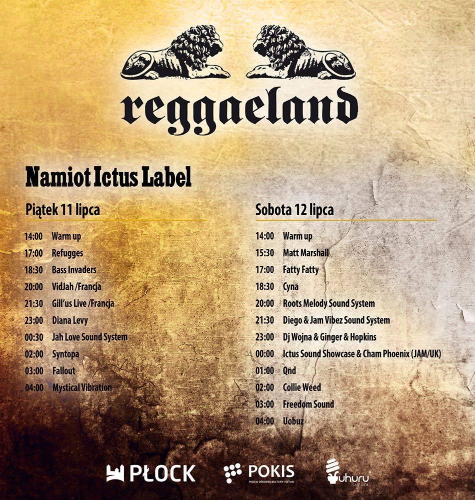Płock, Program minutowy Reggaeland 2014