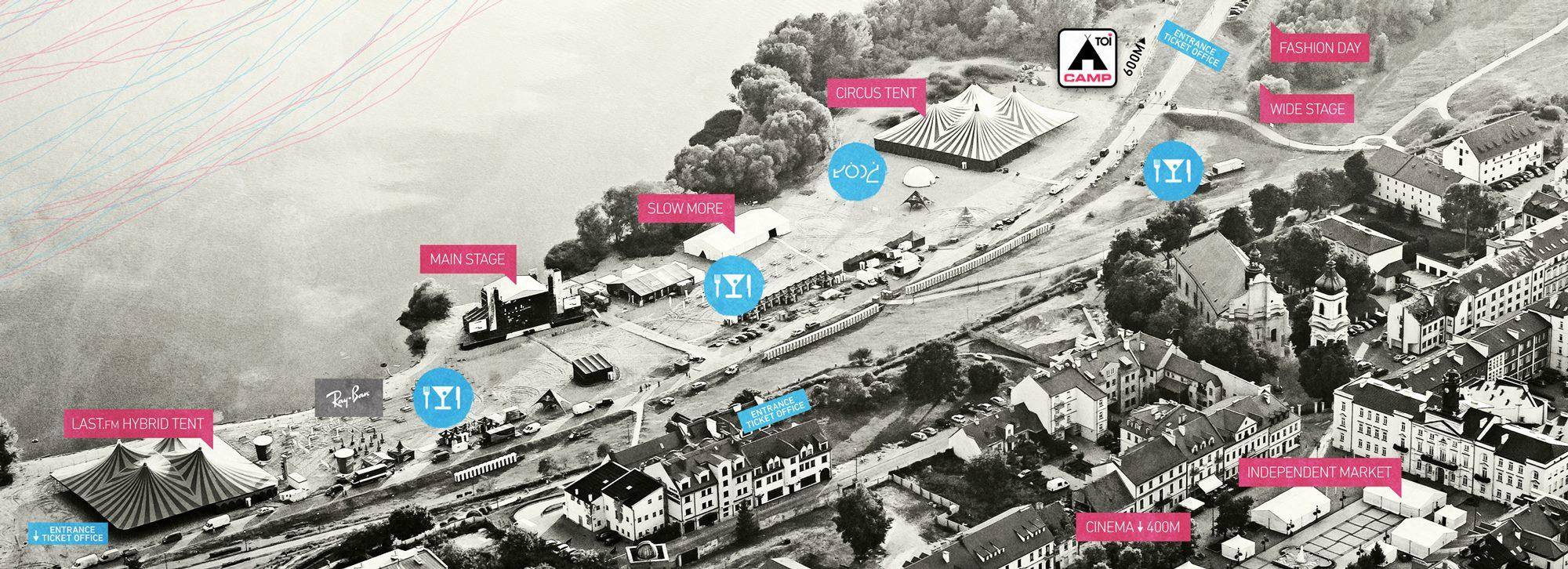 Mapa festiwalu Audioriver 2014