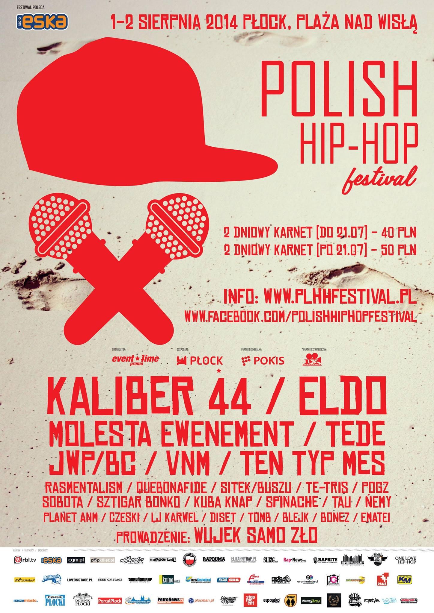 plakat Polish Hip Hop Festival Płock 2014
