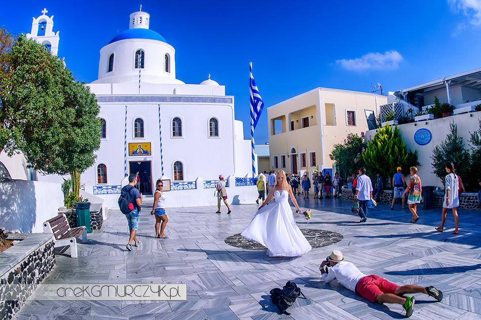 zagraniczne sesja ślubne, Santorini