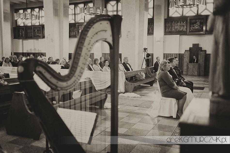 Harfa na ślubie