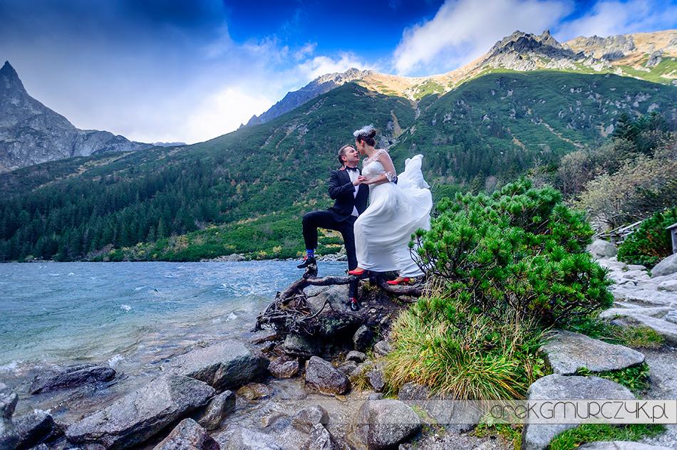 sesja ślubna góry Morskie Oko