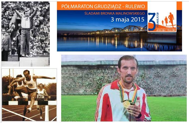 III Półmaraton śladami Bronka Malinowskiego Grudziądz – Rulewo 3.05.2015 r.
