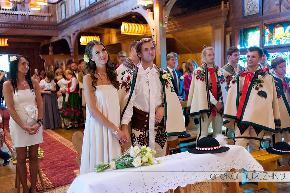 piękny ślub w górach