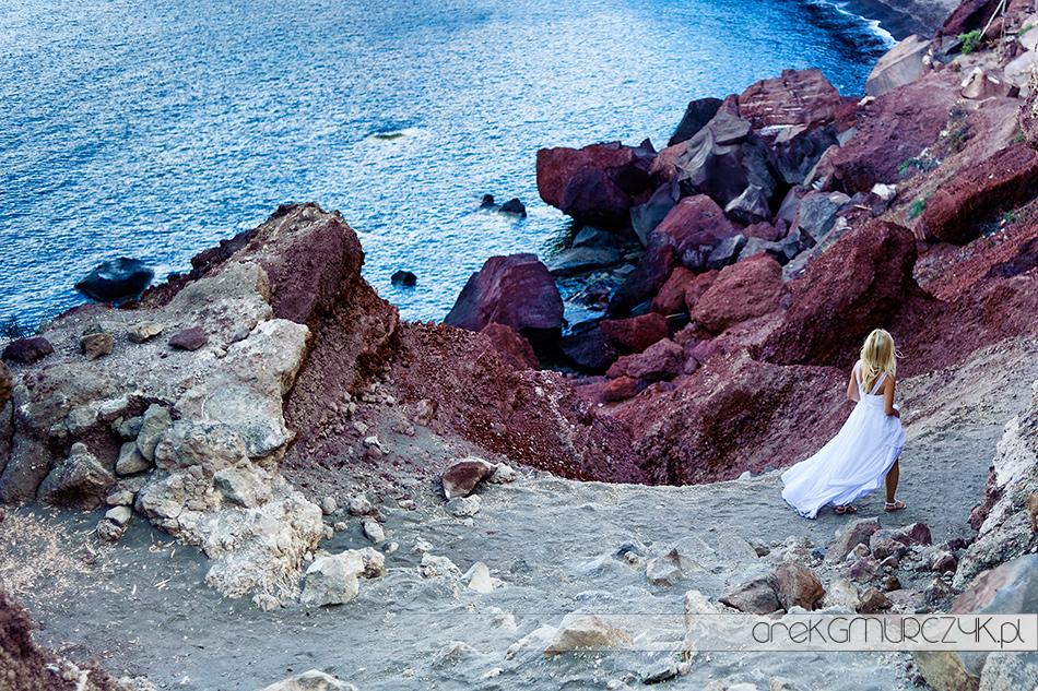 plener slubny nad morzem