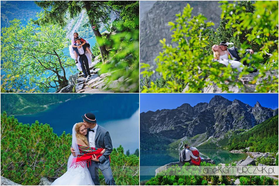 Sesja ślubna w górach Moniki i Tomka, Morskie Oko i Czarny Staw pod Rysami