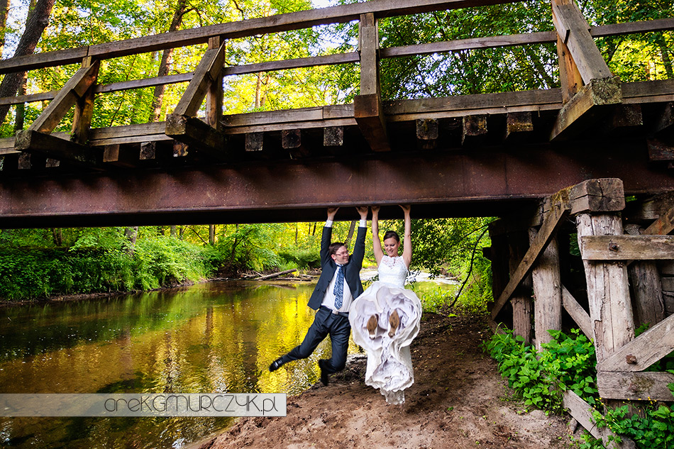 Płock plener ślubny nad rzeką