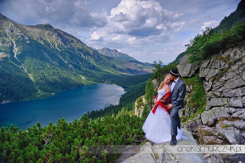 bajkowa sesja ślubna w Tatrach