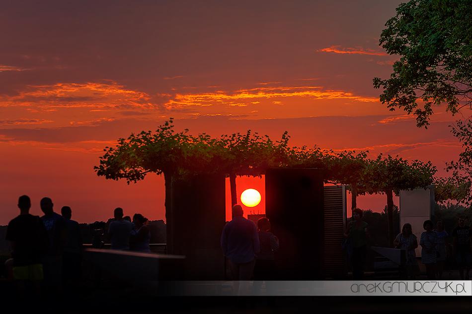 zachód słońca na płockim Wzgórzu Tumskim