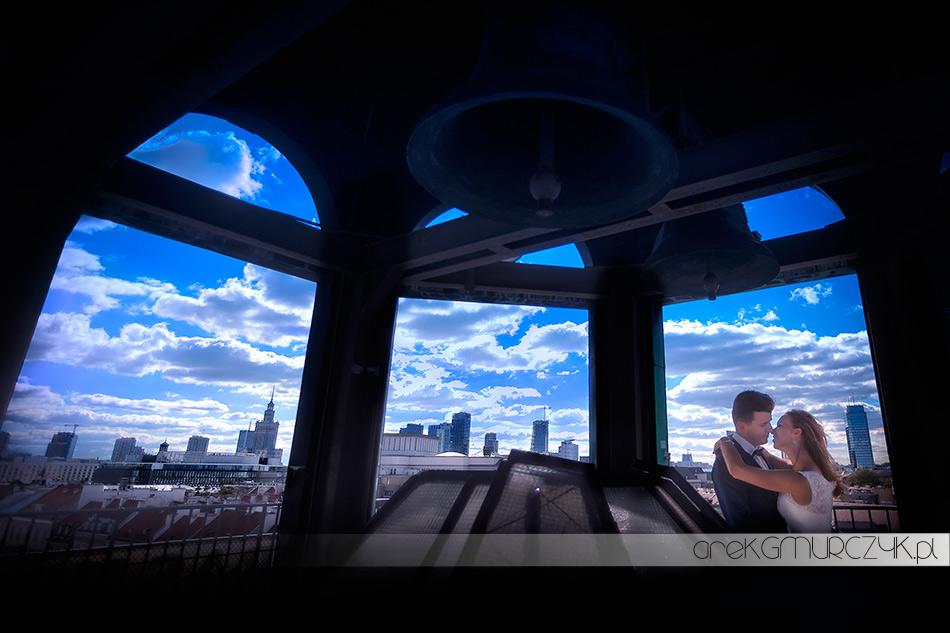 sesja ślubna na dachu Warszawa