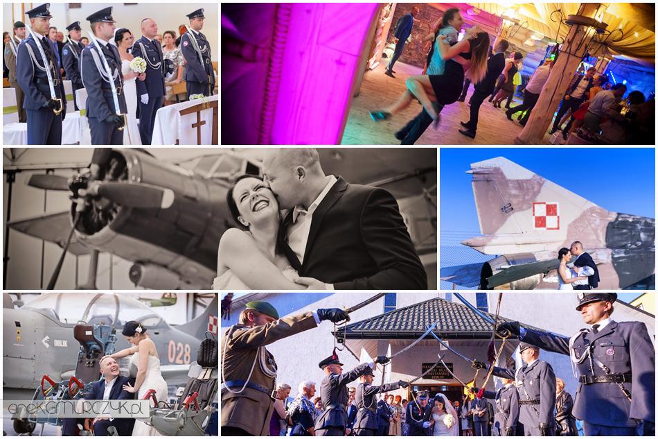 zdjęcia z wojskowego ślubu, wesela i sesji w Dęblinie Ani i Damiana