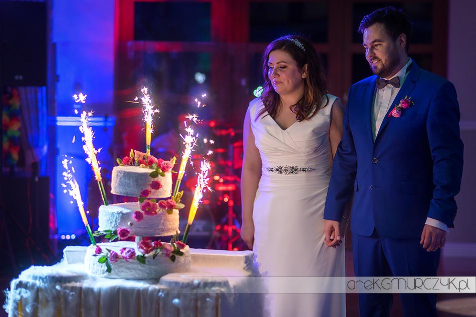 tort na przyjęciu weselnym w Żawakolu