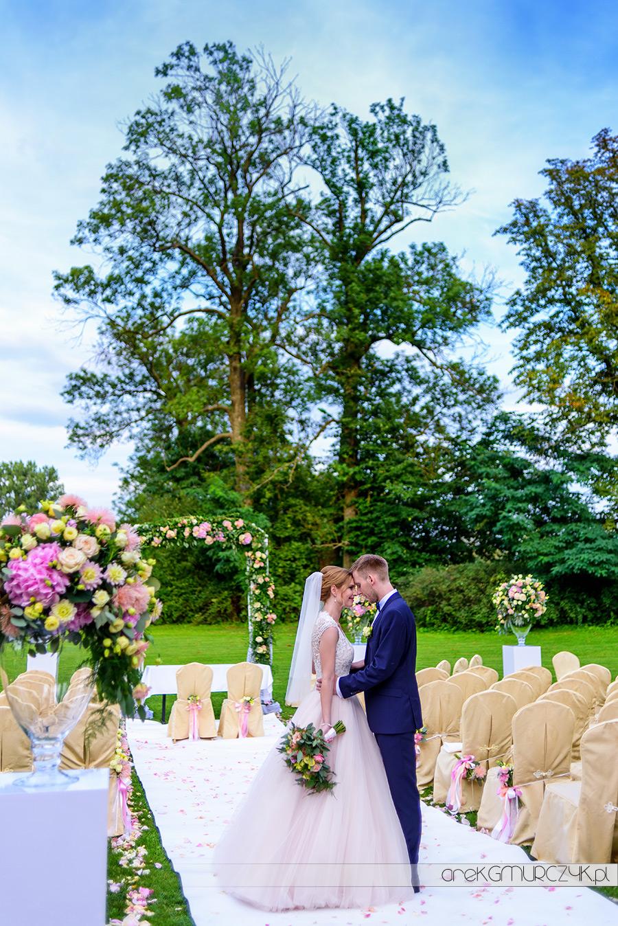 ślub w plenerze, pod gołym niebem-fotograf