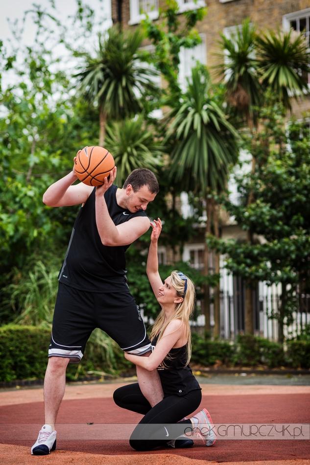 sesja ślubna koszykówka
