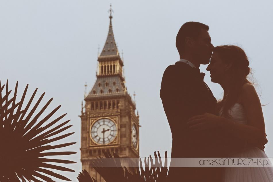 Big Ben sesja slubna w Londynie