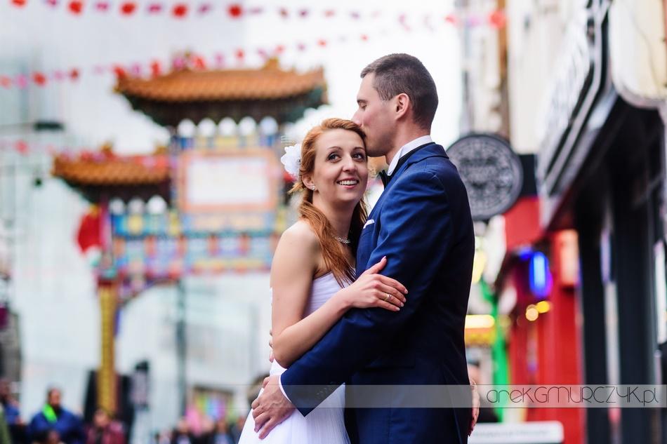 china town londyn-plener ślubny