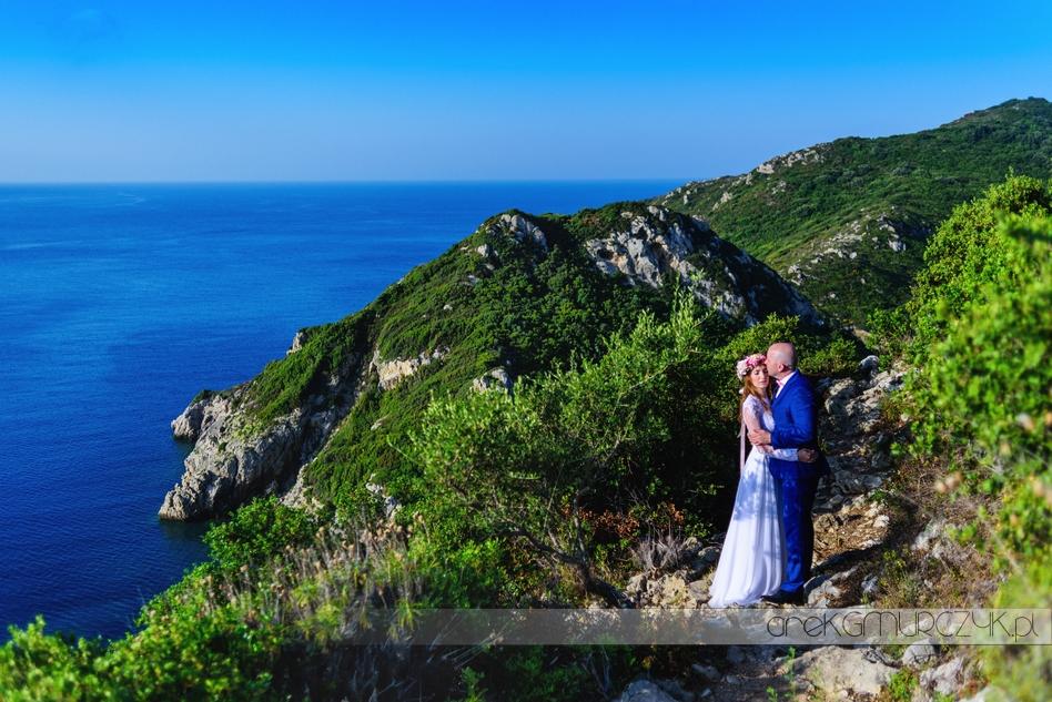 plener ślubny na Corfu