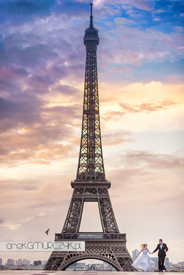 zdjęcia ślubne Paryż