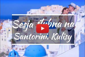 film z sesji ślubnej na Santorini