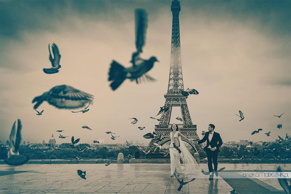 Zdjęcia ślubne Paryż.
